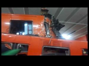 41 heridos y un muerto, en choque de trenes del Metro en CDMX