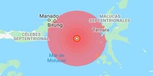 Fuerte sismo de 6.4 frente a las costas de Indonesia