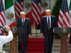 Emiten AMLO y Trump declaración conjunta tras reunión bilateral
