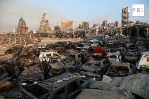 Negligencia o misil en explosión en Beirut, dice presidente libanés