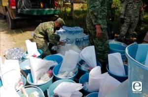 Traslada SEDENA toneladas de ayuda a Tabasco