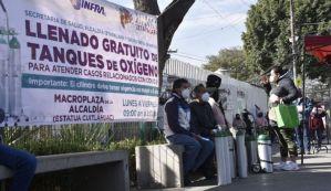 Ofrece Gobierno de la CDMX, recarga gratuita de tanques de oxígeno