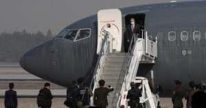 Aterriza avión de la Fuerza Aérea en Santa Lucía, para inaugurar nueva pista
