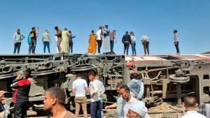 Al menos 32 muertos, deja choque de trenes en Egipto