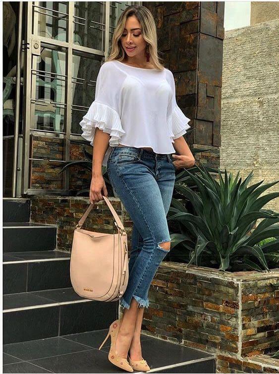 43 Looks Con Jeans De Moda Para Mejorar Tu Estilo 2019
