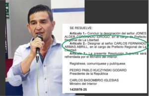 Designan a Fernando Armas Abrill como prefecto de La Libertad.