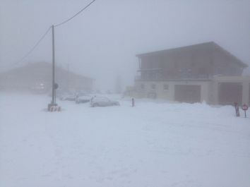 Snow storm over Pays de Gex in France3