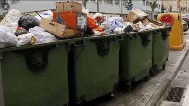 feto en un contenedor de basura