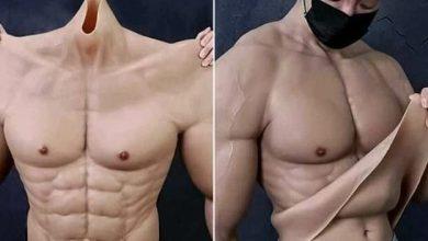 Crean traje hiperrealista para lucir un cuerpo de gimnasio
