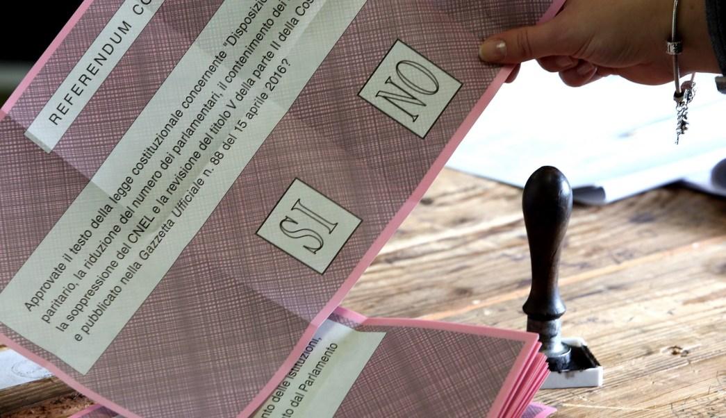 Boleta electoral del referendo (Photo by Franco Origlia/Getty Images)