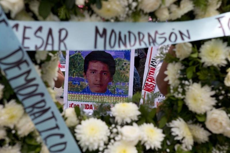 La imagen de uno de los estudiantes de Ayotzinapa.