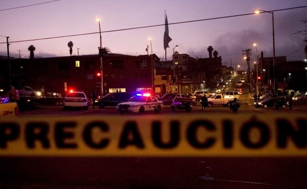 Lugar de los hechos de un tiroteo en Tijuana.
