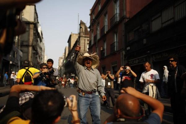 Se exigió durante manifestaciones la lista de las personas detenidas tras el conflicto en Atenco en el año 2006.