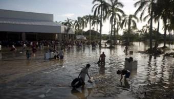 Punta Diamante en Acapulco, inundado.