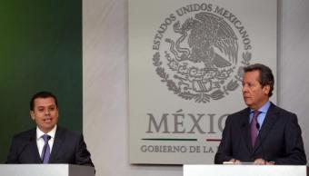 Conferencia del vocero de la República, Eduardo Sánchez, y la Consejería Jurídica del Ejecutivo. (Notimex)