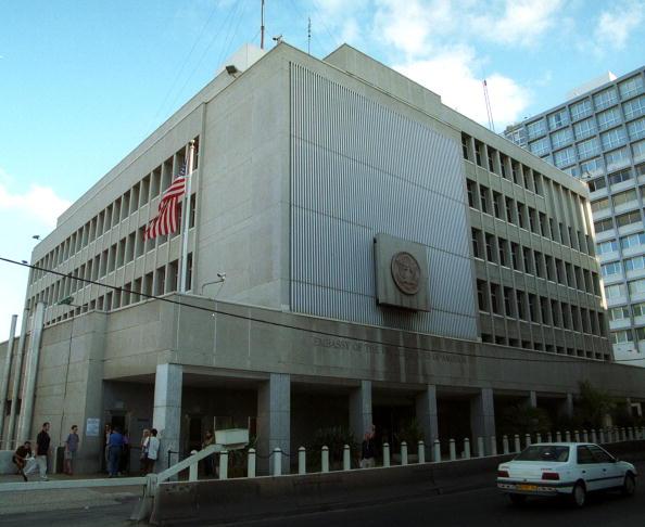 La embajada de Estados Unidos en Tel Aviv, Israel. (Getty Images, archivo)