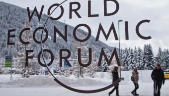Logotipo del Foro Económico Mundial (WEF, por sus siglas en inglés) (AP)