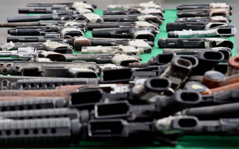Sedena destruye casi tres mil armas de fuego en Sinaloa