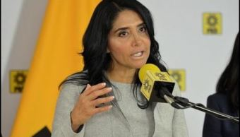 Alejandra Barrales, la presidenta nacional del PRD. (Twitter: @Ale_BarralesM)