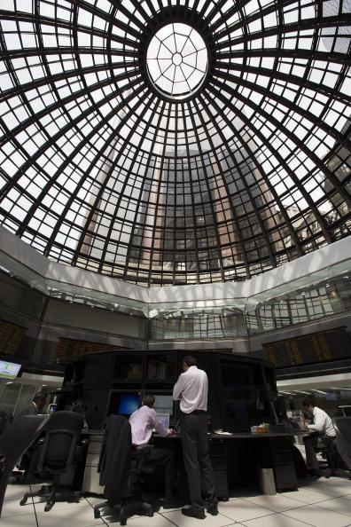Vista del piso de remates de la Bolsa Mexicana de Valores (Getty Images)