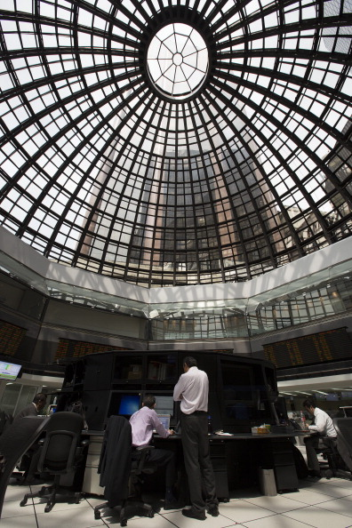 Vista del piso de remates de la Bolsa Mexicana de Valores (Getty Images)