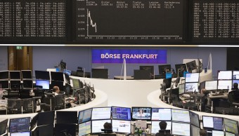 Vista del piso de remates del mercado bursátil de Frankfurt, Alemania (Getty Images)