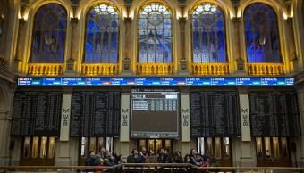 Vista del piso de remates de la Bolsa de Madrid