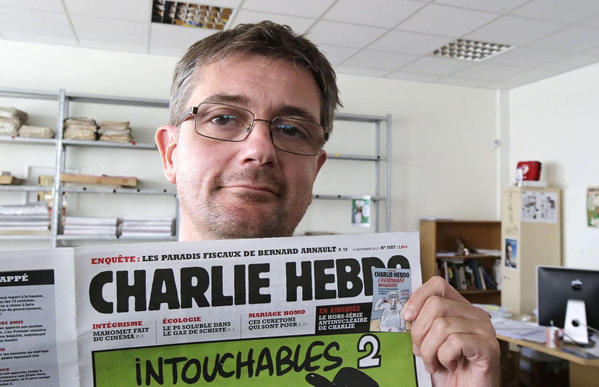 """Stephane """"Charb"""" Charbonnier, editor de Charlie Hebdo, tres años antes del ataque en el que perdió la vida."""