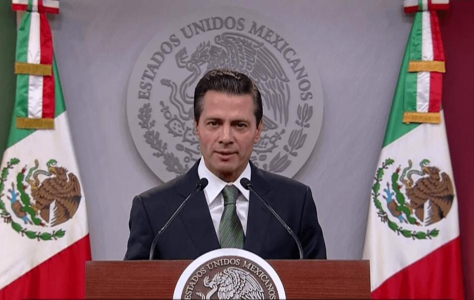 El presidente Enrique Peña Nieto ofreció la noche de este lunes un mensaje en cadena nacional. (Presidencia de la República)