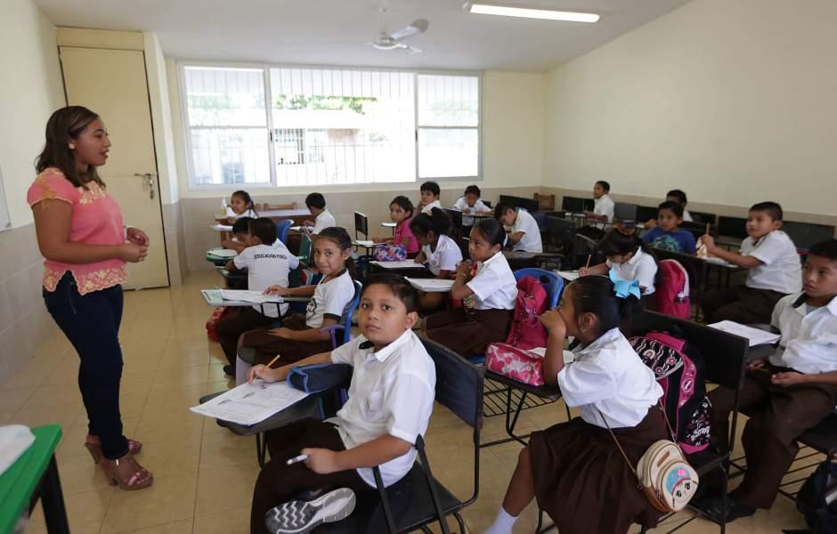 alumnos, salón de clases, escuela, educación básica