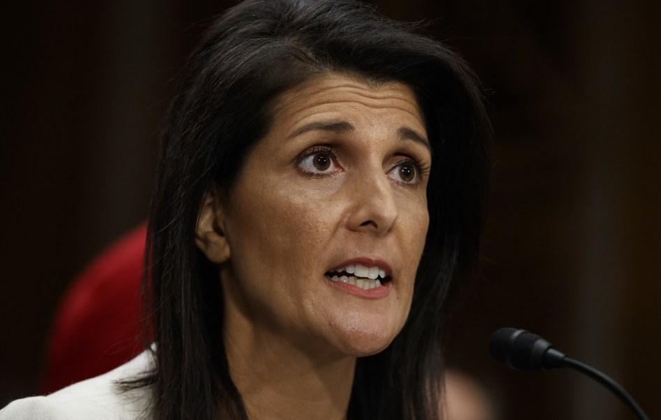 La nueva embajadora de Estados Unidos ante las Naciones Unidas, Nikki Haley, califica de inaceptable la prueba de misiles de Irán (AP)