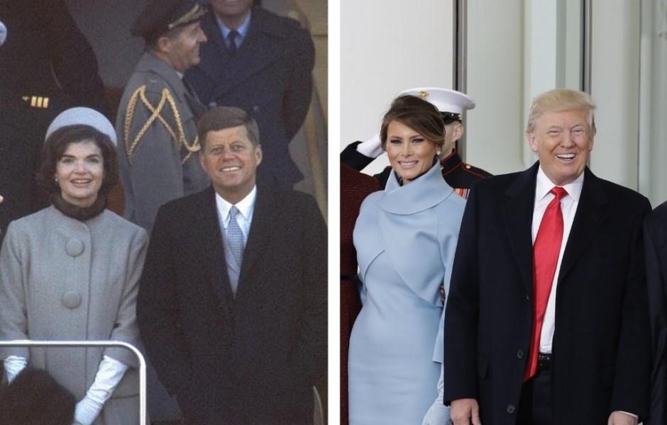 John y Jackie Kennedy y Donald y Melania Trump (Getty Images) b07d0c503006