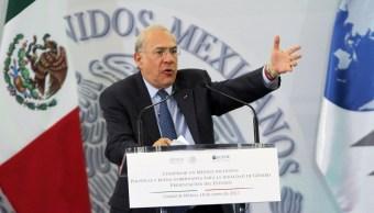 José Ángel Gurría acude a reunión en Sedesol (Notimex)