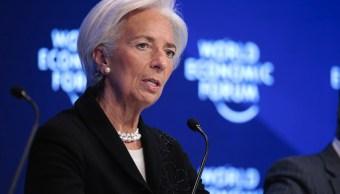 Christine Lagarde en el Foro Económico Mundial (Getty Images)