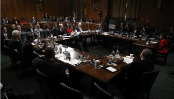 Los miembros del Comité Judicial del Senado participan en el comité sobre la nominación del senador Jeff Sessions para ser el próximo Fiscal General de los Estados Unidos.
