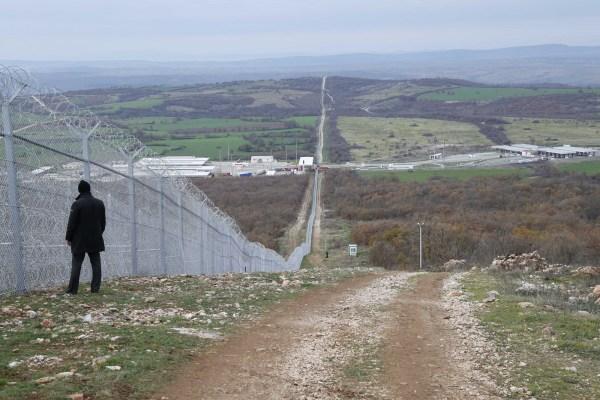 Valla fronteriza entre Bulgaria y Turquía