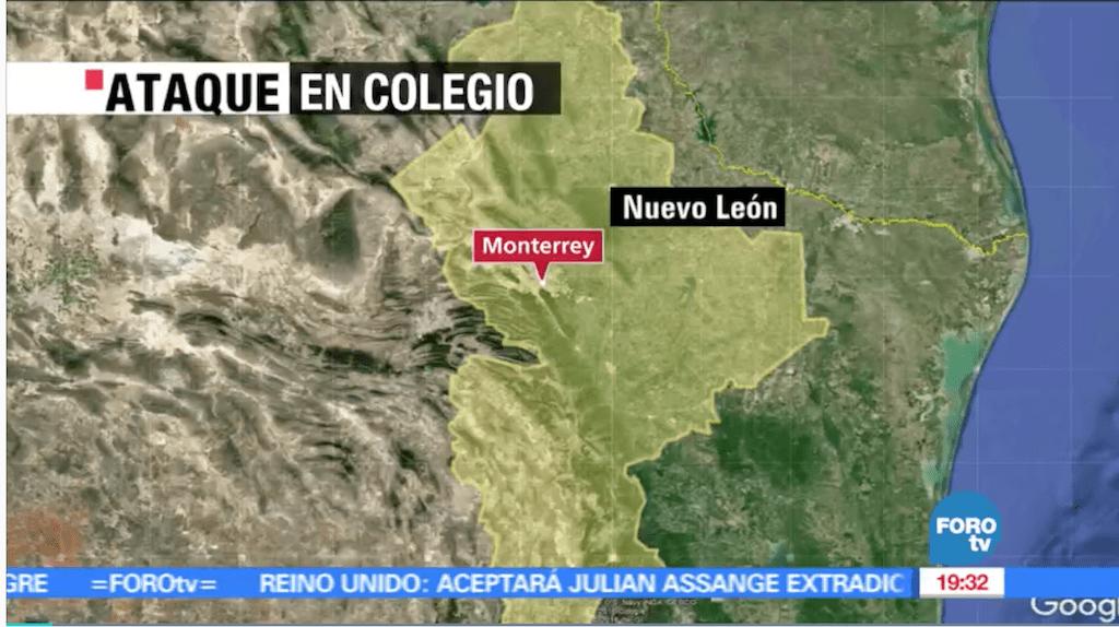 Joven de 15 años agredió a maestra y compañeros en escuela de Monterrey