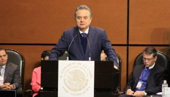 Pedro Joaquín Coldwell, secretario de Energía, durante su comparecencia ante la Comisión Permanente del Congreso de la Unión (Twitter: @CanalCongreso)