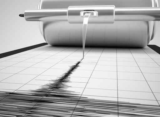Aguja de un sismógrafo que registra el movimiento telurico