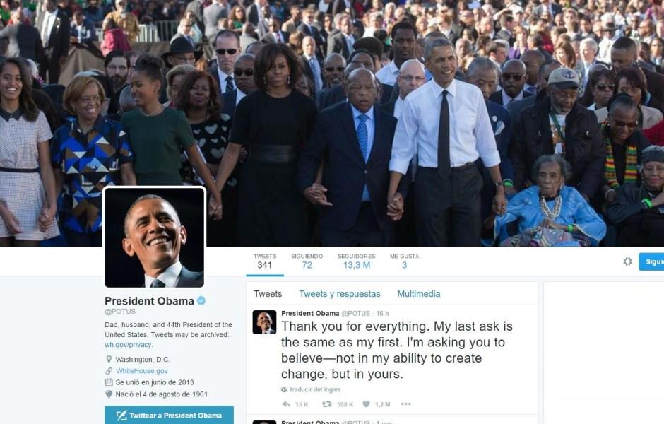 Tuit Obama despedida