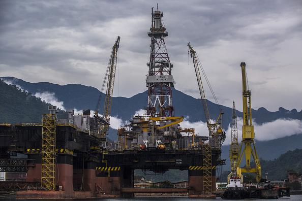 Vista de una plataforma petrolera (Getty Images)
