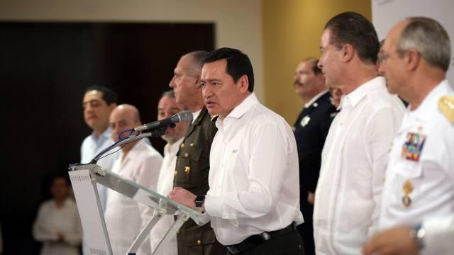 El secretario de Gobernación encabezó la reunión del Gabinete de Seguridad en Mazatlán, Sinaloa. (Notimex)