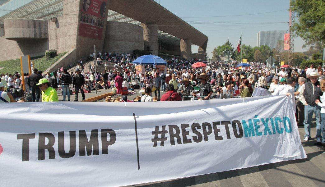 Marcha de Unidad Nacional Anti-Trump. (Notimex, archivo)