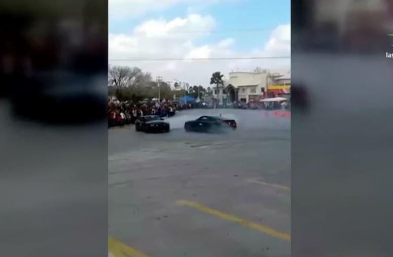 Accidente en espectáculo automovilístico en Tamaulipas (Noticieros Televisa)