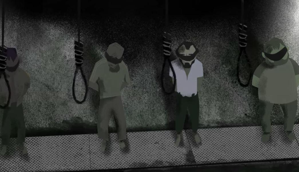 Imagen tomada del video de Amnistía Internacional (AI) sobre supuestas ejecuciones masivas en prisiones sirias. (https://www.amnesty.org)