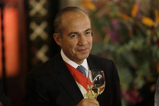 Felipe Calderón Hinojosa, presidente de México de 2006 a 2012. (AP, archivo)