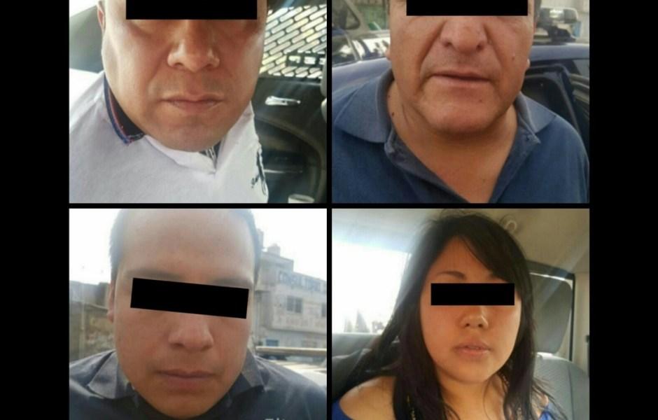En persecución, la Policía capitalina detuvo a cuatro integrantes de una banda dedicada al robo de transportistas, negocios y bancos.