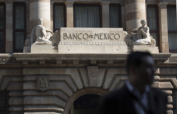 Vista del edificio del Banco de México (Getty Images)