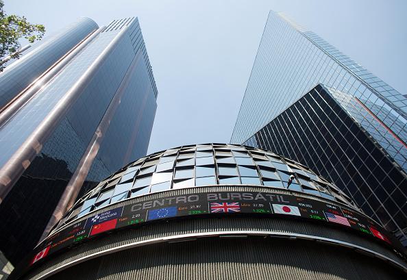Vista de la cúpula de la Bolsa Mexicana de Valores (Getty Images)