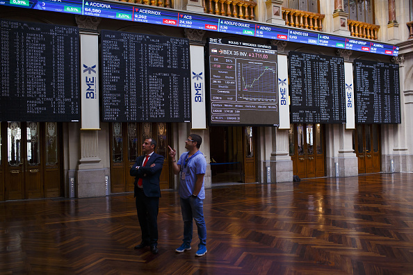 Vista del piso de operaciones de la Bolsa de Madrid (Getty Images)